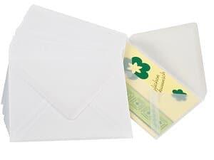 Briefumschläge, 50 Stück transparent(11 x 15,5 cm)