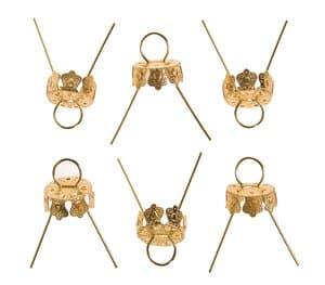 Kugelkappen, 6 Stück gold   (13 mm)