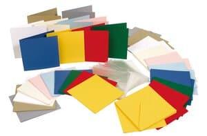 Sparset: 50 Doppelkarten Quadrat (inkl. Hülle)