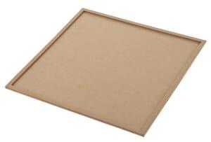 Houten onderzetter vierkant (35x35 cm) 2-delig