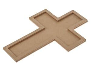 Houten - Kruis (15,5 x 21,5 cm) 2-delig