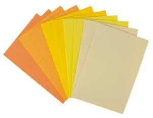 Moosgummi Set, 10 Platten gelb  (20 x 29 cm)