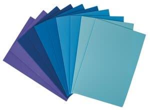 Moosgummi Set, 10 Platten blau (20 x 29 cm)