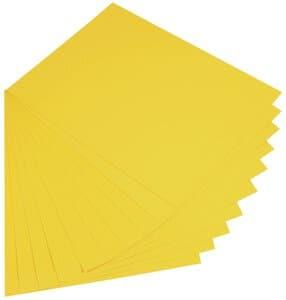 Fotokarton,  10 Bogen bananengelb    (50 x 70 cm)