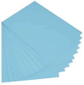 Cartulina, 300 g/m2,50x70 cm, 10 ud, azul pacific