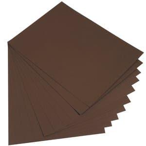 Fotokarton,  10 Bogen dunkelbraun    (50 x 70 cm)