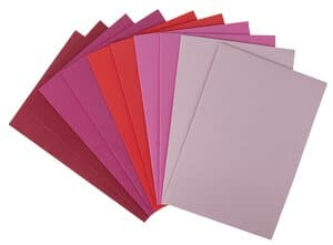 Gomaespuma - Mix, tonos rojos (20x29 cm)