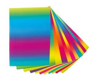 Fotokarton,  10 Bogen regenbogen     (50 x 70 cm)