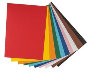 Fotokarton, 10 Bogen farbig sortiert (50 x 70 cm)