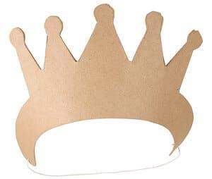 Corona de Papel Art, con goma elástica