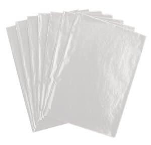 Transparant papier, 70 x 100 cm, 25 vel, wit