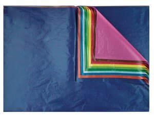 Transparant papier (70x100cm) 10 kleuren, 25 vel