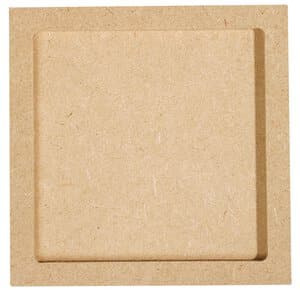 Holz Rahmen Untersetzer, 2-tlg. Quadrat