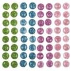 Piedras de bisutería, 64 ud., colores brillantes