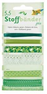 Rubans en tissu, Différents moti..., vert