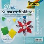 Kunststoffblätter,  20 Stück farbig (20 x 20 cm)