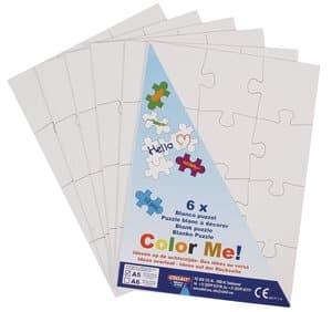 Puzzles vierges en carton, A5, 72  éléments (6 x 1