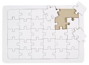 Puzzel A4, extra sterk karton, wit