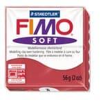 Fimo soft boetseerklei (57 g) kersenrood