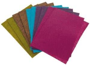 Bastelfilz, 10er-Set farbig sortiert (200x300 mm)