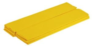 Crêpepapier (50 cm x 2,5 m) geel, 10 stuks
