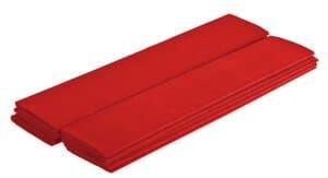 Crêpepapier (50 cm x 2,5 m) rood, 10 stuks
