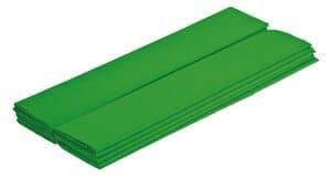 Papel crepé, 10 hojas verde hierba (50 cm x 2,5 m)