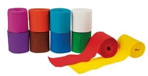 Cintas de papel crepé, 10 rollos de (5 cm x 10 m)