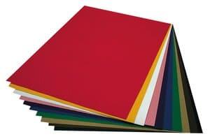 Cartón ondulado, 10 hojas de colores (50 x 70 cm)