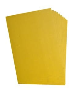 Cartón ondulado, 10 hojas amarillo sol(50 x 70 cm)