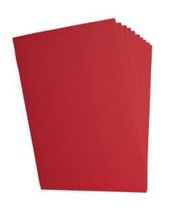 Cartón ondulado, 10 hojas, rojo (50 x 70 cm)