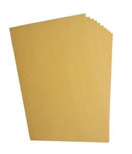 Cartón ondulado, 10 hojas, oro (50 x 70 cm)
