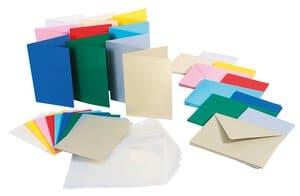 Voordeelset: 50 dubbele kaarten (A6) 10 kleuren