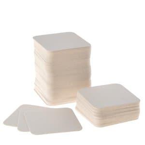 Bierviltjes, blanco (93 x 93 mm) 100 stuks