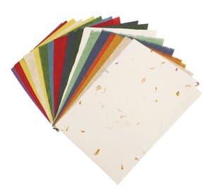 Natuurpapier combipak (23x33cm) 5 soorten/18 vel
