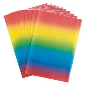 Papier transparent imprimé -Arc-en-ciel-,