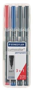 Rotulador permanente STAEDTLER Lumocolor, 4 ud.