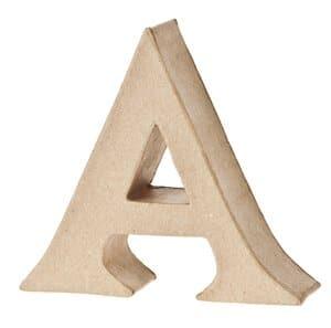Paper-Art Buchstabe A (110 x 100 x 30 mm)