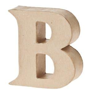 Paper-Art Buchstabe B (95 x 100 x 30 mm)