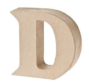 Paper-Art Buchstabe D (100 x 100 x 30 mm)