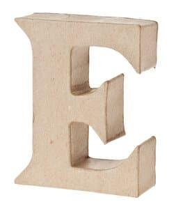 Paper-Art Buchstabe E (80 x 100 x 30 mm)