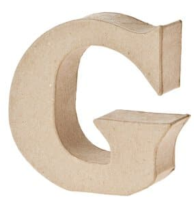 Paper-Art Buchstabe G (100 x 100 x 30 mm)