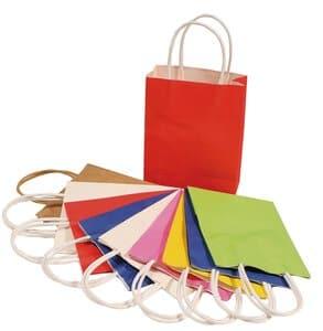 Papieren tassen (12 x 5,5 x 15 cm) bont, 10 stuks