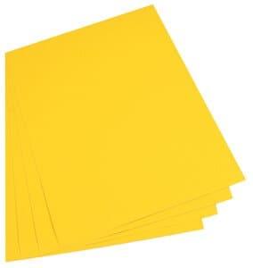 Gekleurd karton (50 x 70 cm) 10 vel, banaangeel