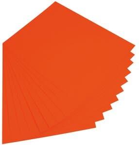 Gekleurd karton (50 x 70 cm) 10 vel, oranje