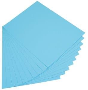 Gekleurd karton (50 x 70 cm) 10 vel, hemelsblauw