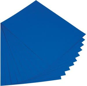 Gekleurd karton (50 x 70 cm) 10 vel, koningsblauw