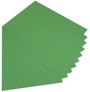 Gekleurd karton (50 x 70 cm) 10 vel, mosgroen