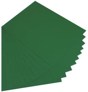 Gekleurd karton (50 x 70 cm) 10 vel, dennengroen