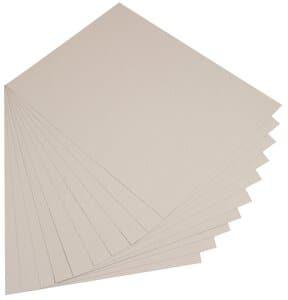 Gekleurd karton (50 x 70 cm) 10 vel, lichtgrijs